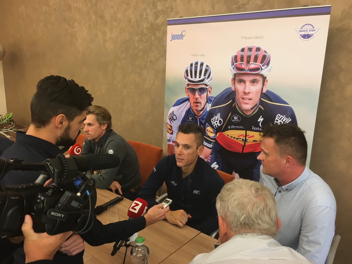 Philippe Gilbert – the World Champion in road cycling visits Slovakia