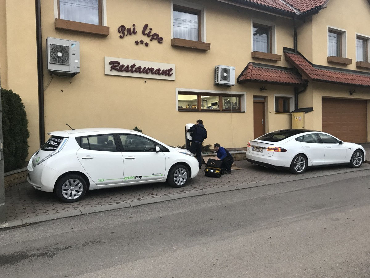 EV charging station is opened in Dohňany