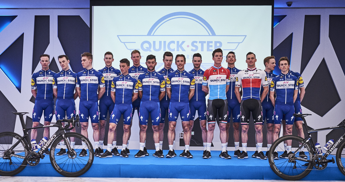 Quick-Step Floors Pro Cycling Team presented in Calpe