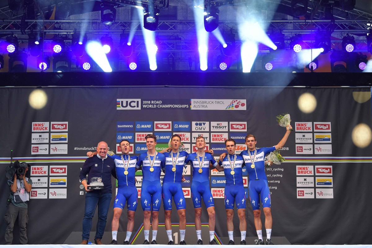 Quick-Step Floors win record fourth World TTT Title
